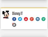 Disney social badge