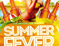 Summer Fever Party Flyer Template
