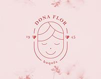 Dona Flor - Logotipo de Florista