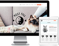 Logo & Site web Milky Paw, comportementaliste pour chat