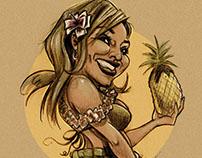 Pineapple Hut Illustration