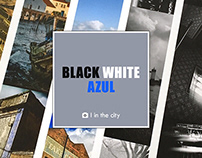 Black White Azul