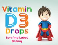 Vitamin D3 Damla Kutu ve Etiket Tasarımı