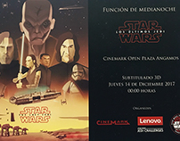 StarWars Peru: The Last Jedi Cinemark /Lenovo premiere