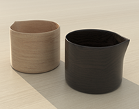Model+Render of Mitsugu Morita's Petite Pitchers