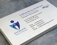 Max Health Physical Therapy-Logo and Business Card