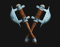 Ottoman Cleaver 3D Modelling & Material & Render