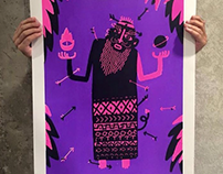 Dead of Gulyabani // Villainz Screenprint Exhibition