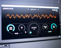 Audio Damage FuzzPlus3 UI Design