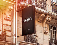 Store Sign PSD Mockup