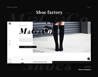 Online shop for shoes factory
