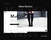 Online shop for shoes factory