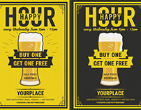 Beer Happy Hour Flyer Template