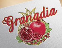 Création de logo confiture granade, loolye labat