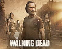 The Walking Dead Photocompositing and characters detail