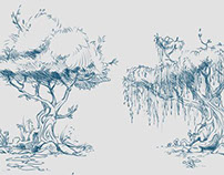Concept Art of Trees