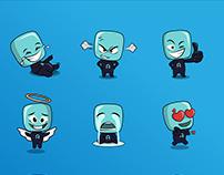 Telegram Stickers set for Ubiatar