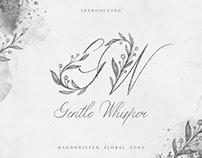 Gentle Whisper. Handwritten Floral Font