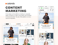 Zalando Content Marketing Platform Design