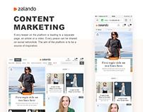 Zalando Content Marketing Platform Design