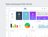 Dashboard design with XD file.