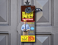 Exterminator Door Hanger and Logo design