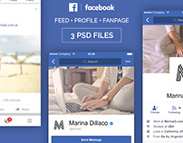 FREE Facebook Mobile PSD UI