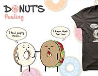 Donut's feeling & autres designs de t-shirts