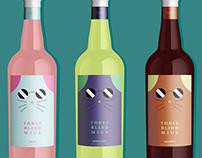 3 Blind Mice Wine Bottle Labels
