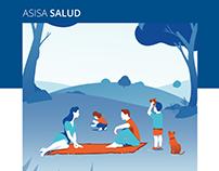 ASISA Salud y Dental - Brochure illustrations