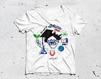 t-shirt graduate illustration