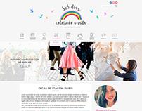 Logo e layout para o blog 365 Dias Colorindo a Vida