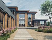 Загородные жилые дома для двух семей