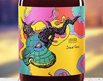 Smilin' Goat - Beer Label Illustration