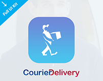 Courier Delivery Mobile App Design - iPhone, Android