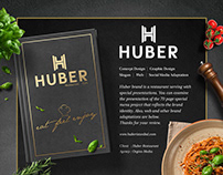 Huber Restaurant Menu Design