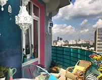Марокко по-московски / декор-проект балкона