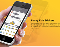 Funny Fish Stickers