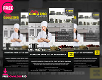 Cooking Classes Flyer Free PSD