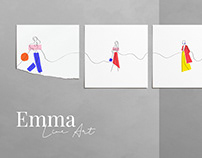 Free - Emma - Line Art Woman & Lifestyle