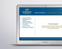 Presentacion de prensa para Barrick Gold