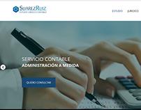 web design. Client: Suarez Ruiz Estudio
