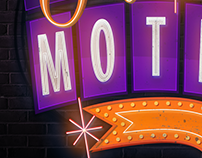 Motel logo/lettering for condoms advertising