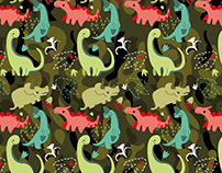 Dinosaurs Texture Pattern / product design