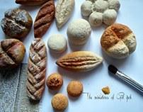 Minyatür ekmek çalışması hava ile kuruyan hamur .
