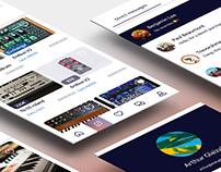UX/UI   Designing a mobile app for Audiofanzine