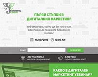 Digital Marketing Webinar Landing Page.