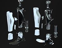 Bionic prosthesis leg