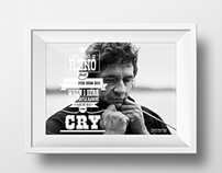 Johnny Cash Typographic Poster