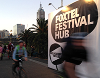 Foxtel Festival Hub – brand and wayfinding